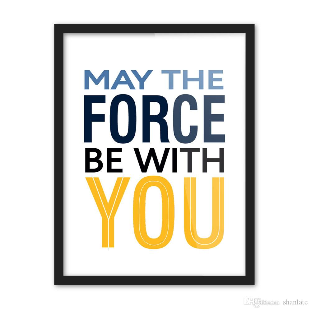 2019 Novelty Gift May The Force Be With You Words Pattern Home Cafe