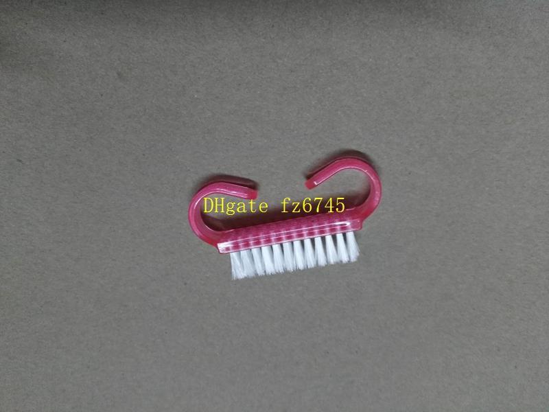 50 قطعة / الوحدة شحن مجاني مسمار فن التنظيف فرشاة الغبار ، البلاستيك إزالة الغبار زاوية صغيرة نظيفة ، لينة مانيكير باديكير أداة