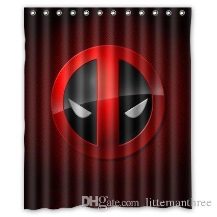 2018 Superhero Deadpool Design Shower Curtain Size 150 X 180 Cm ...
