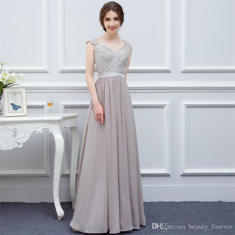 New Arrivals V Neck Evening Dress Satin Floor Length Vestidos de Noiva Formal prom gowns Suruimei Factory Free Shipping