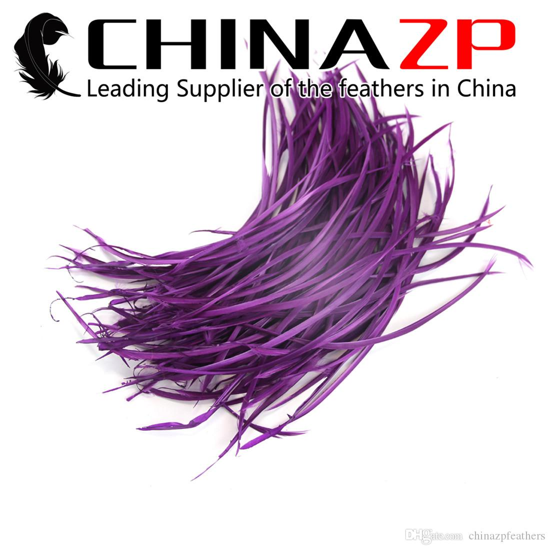 Hand Select CHINAZP 15~20cm (6~8inch) 50Pcs/lot Premium Multicolor Dyed Goose Biots Wholesale Feather for Carnival