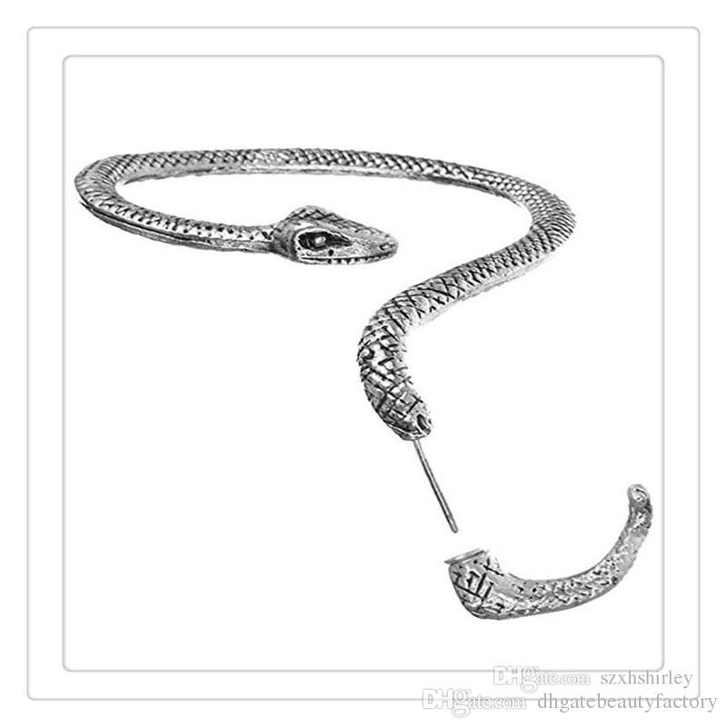 2017 Haute Qualité Boucles D'oreilles Gauche Oreille Manchette Tentation Serpent Serpent Boucle D'argent Sexy Ficelle Du Vent Tentation Longue Serpent Serpent Boucles D'oreilles Gratuit DHL