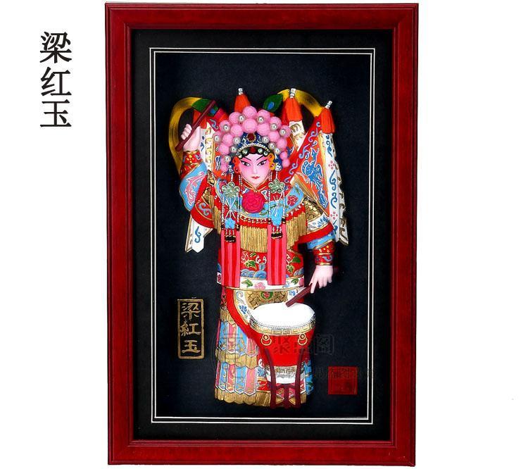 Liang Hongyu Opera di Pechino figura cornice Hotel Office Decorazione pendente ornamenti regalo d'affari all'estero