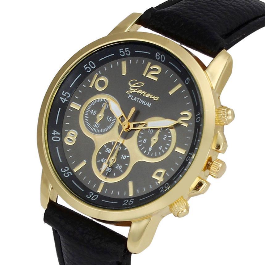 4d9c692ea7c Unisex Geneva Women s Quartz Watches Men Faux Leather Analog Wristwatch  Women Business Sports Watch Clock Relogio Masculino High Quality Clock  Stone China ...