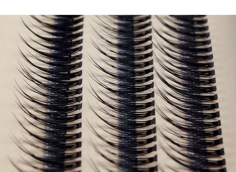 0.07mm Ultra Soft New Individual Visone Extension Ciglia 120root Nodo Cluster gratuito Ciglia Strumento il trucco naturale