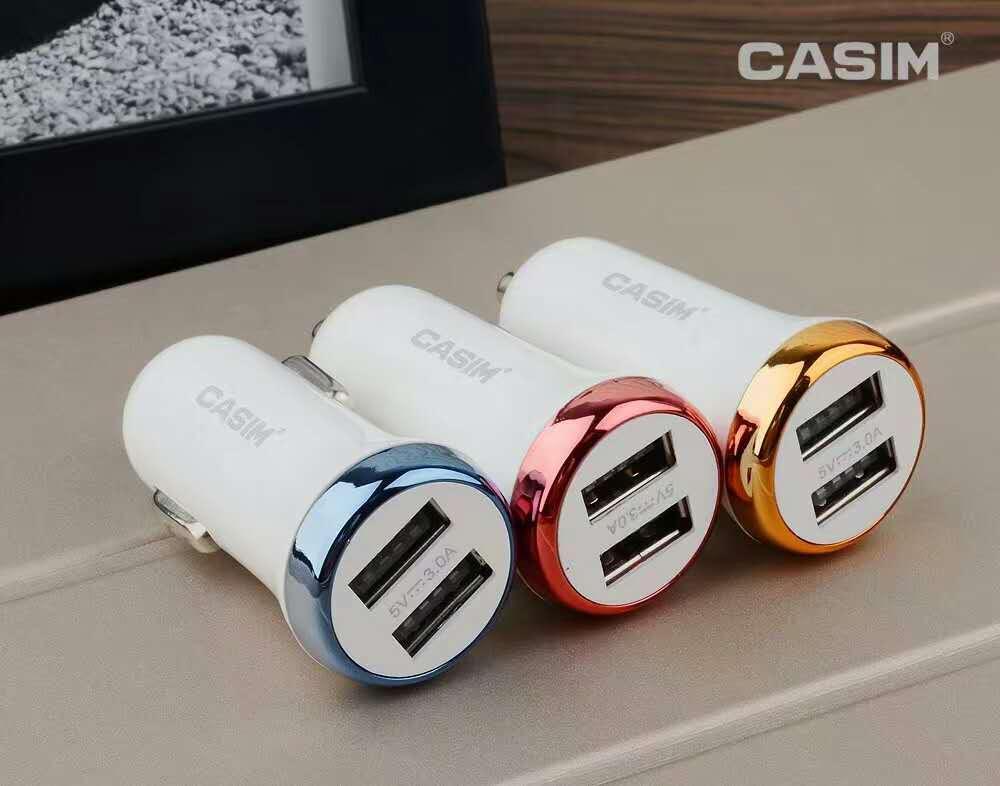 CASIM Hızlı Şarj 3.0 Hızlı USB Araç Şarj 30 W / 6A iphone7 için 6 s 6 splus Samsung Galaxy S7 Kenar / S7 / S6 + / S6 / S5