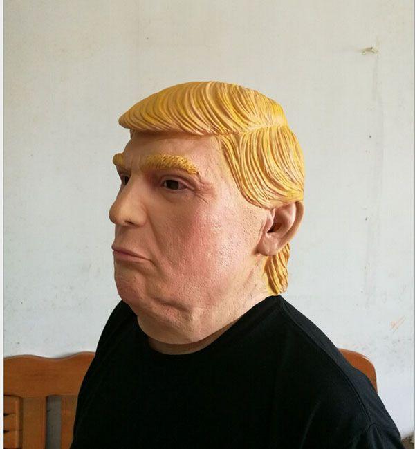 Toptan masquerade maskeleri ABD Başkan Adayı Mr Trump Lateks Maske Lateks Yüz Maskesi Milyarder Başkanlık Donald Trump Lateks Maske