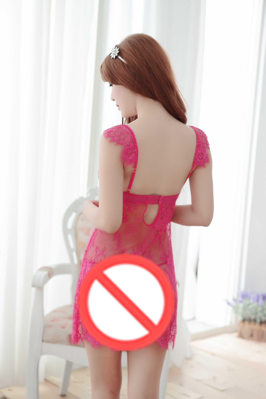 Livraison gratuite nouvelle lingerie sexy cosplay tulle transparent pyjamas dentelle transparente coupe-bas sexy harnais sexy jupe pyjama peut être entière