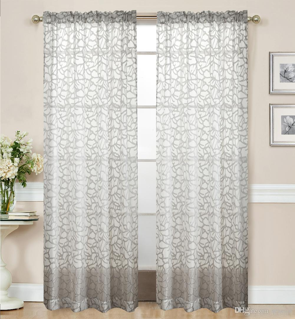 Fashion Sewing Beads The Little Flower Sheer Curtains For Living Room Balcony Kitchen Drapes Voile Tulle Curtain For Windows Blooming