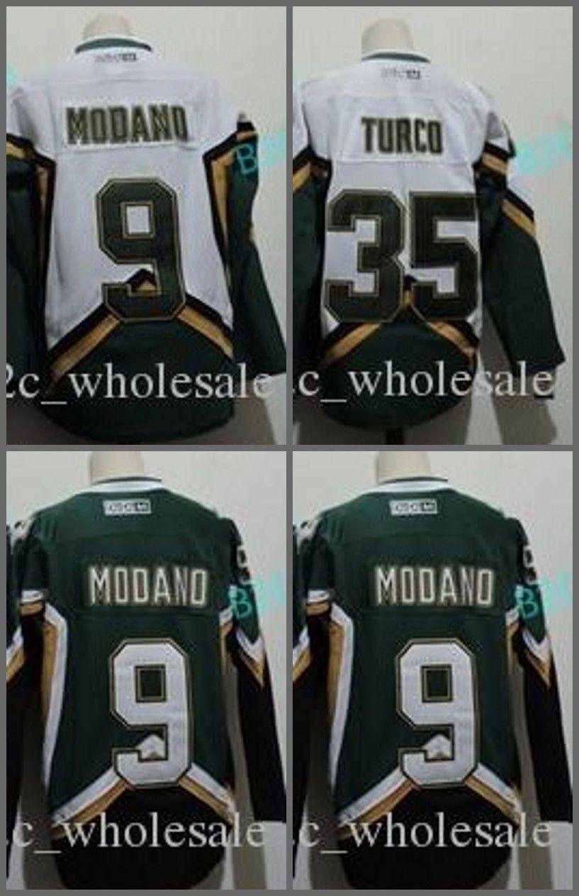 buy popular a1dbb 37d78 nhl jerseys dallas stars 9 mike modano green jerseys new style
