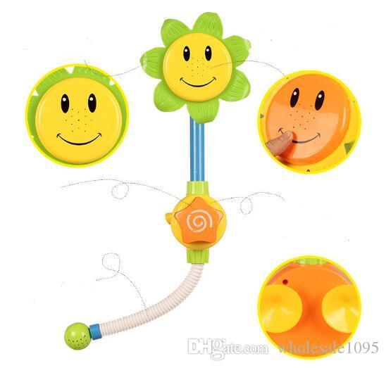 Дети дети детская ванна игрушка подсолнечник смеситель для душа ванна вода играть обучение игрушка подарок розничная упаковка YH1015