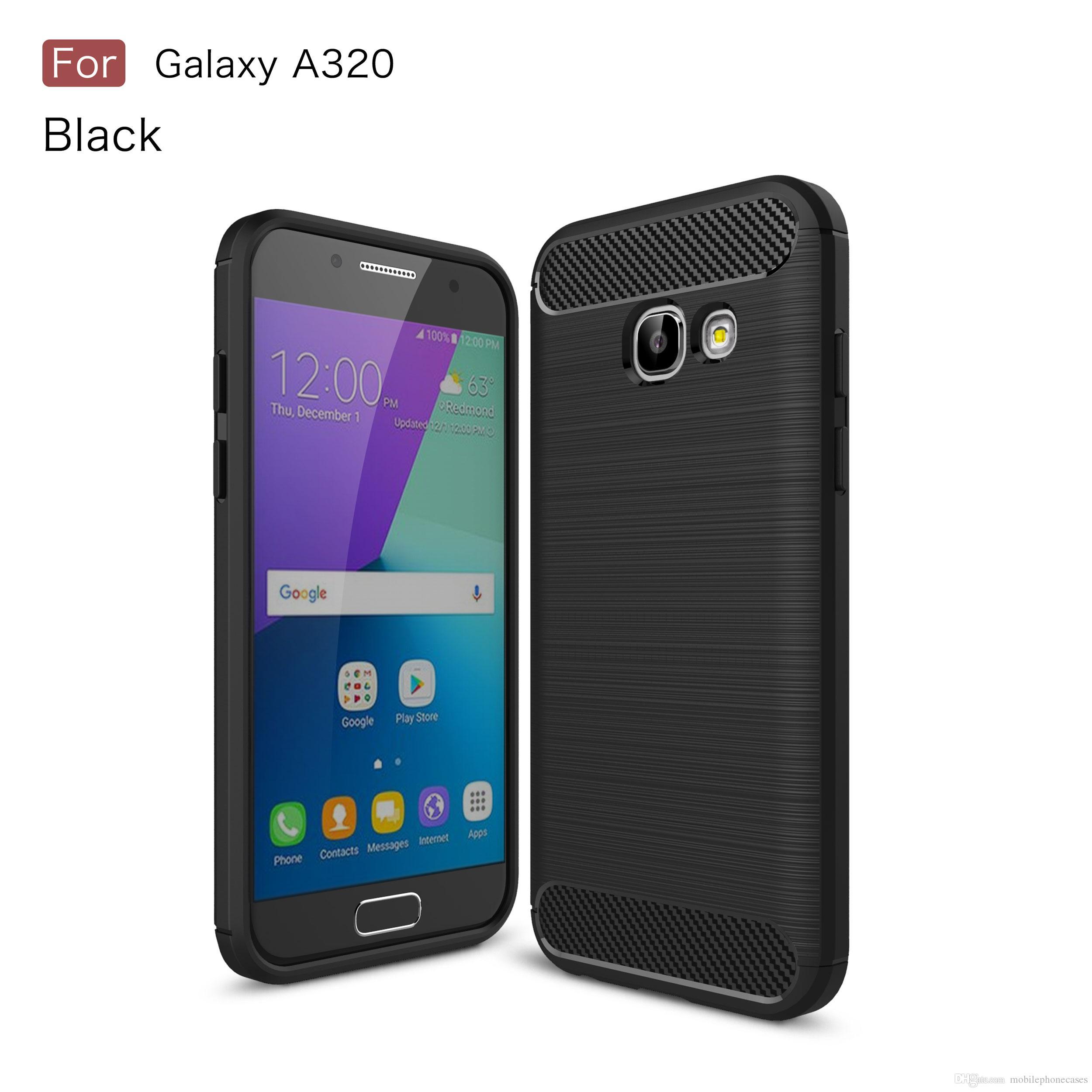 84f8100b710 Venta De Carcasas Para Celulares CellPhone Funda Para Samsung Galaxy A3  2017 TPU Fibra De Carbono Cepillada Funda Delgada Para Galaxy A3 2017 Caja  Del ...