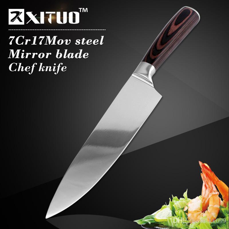 Acquista Xituo Sharp Più Giappone Coltello Da Cucina 8 Pollici Cuoco ...