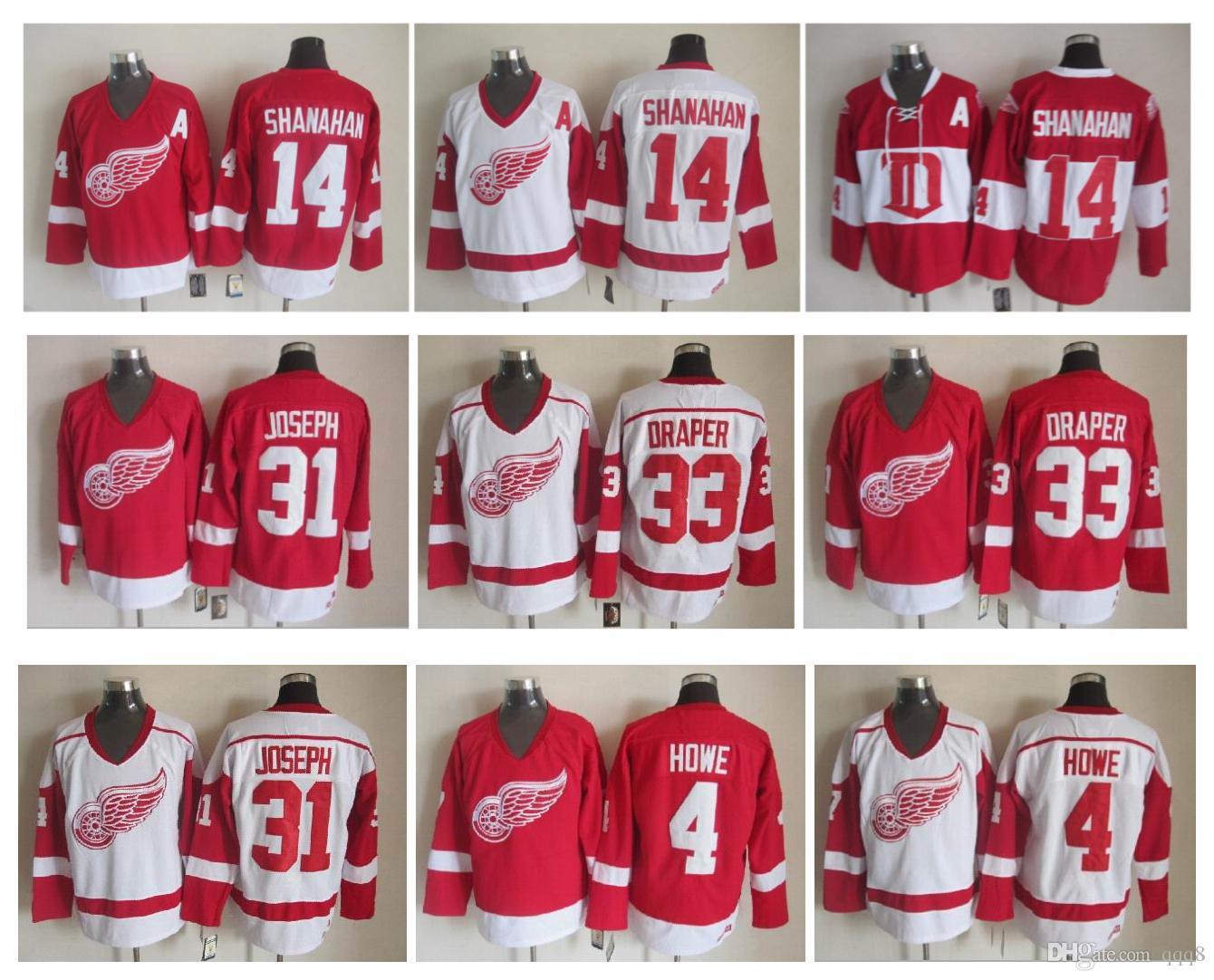 ec3c3ed83 ... winter classic jersey in stock e050d e036b  uk 2019 detroit red wings  hockey jersey 4 gordie howe 14 brendan shanahan 33 kris draper