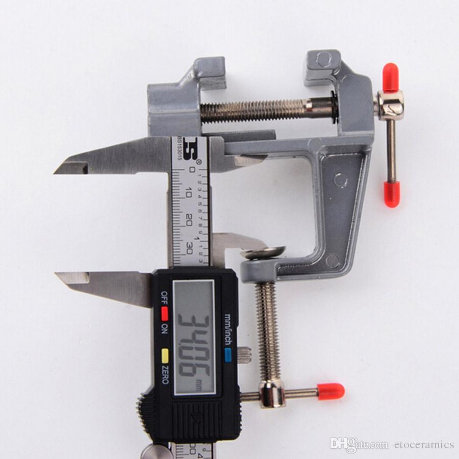 Mini Aluminiumbänk Table Swivel Lock Clamp Vice Craft Smycken Hobby Vise Partihandel
