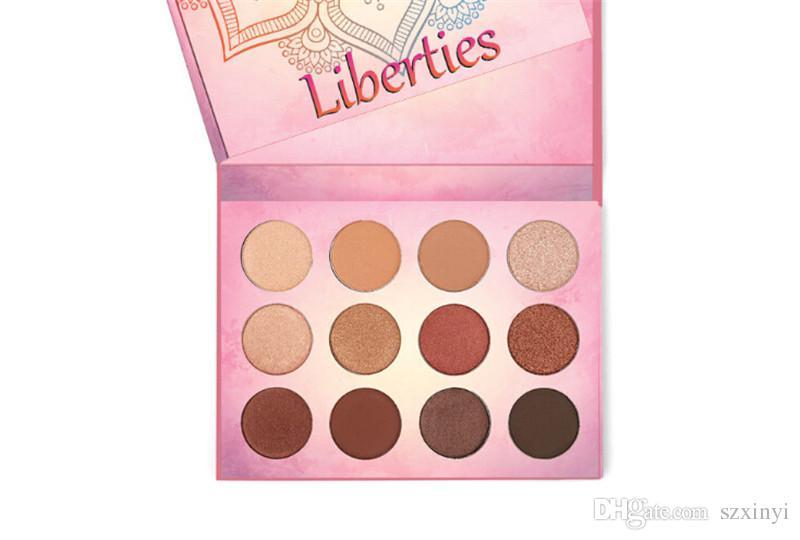 2017New Brand Aurelife Liberties Pressed Powder Nake Shadow Palette Matte & Shimmer Eye Shadow Palette Heat Eyeshadow
