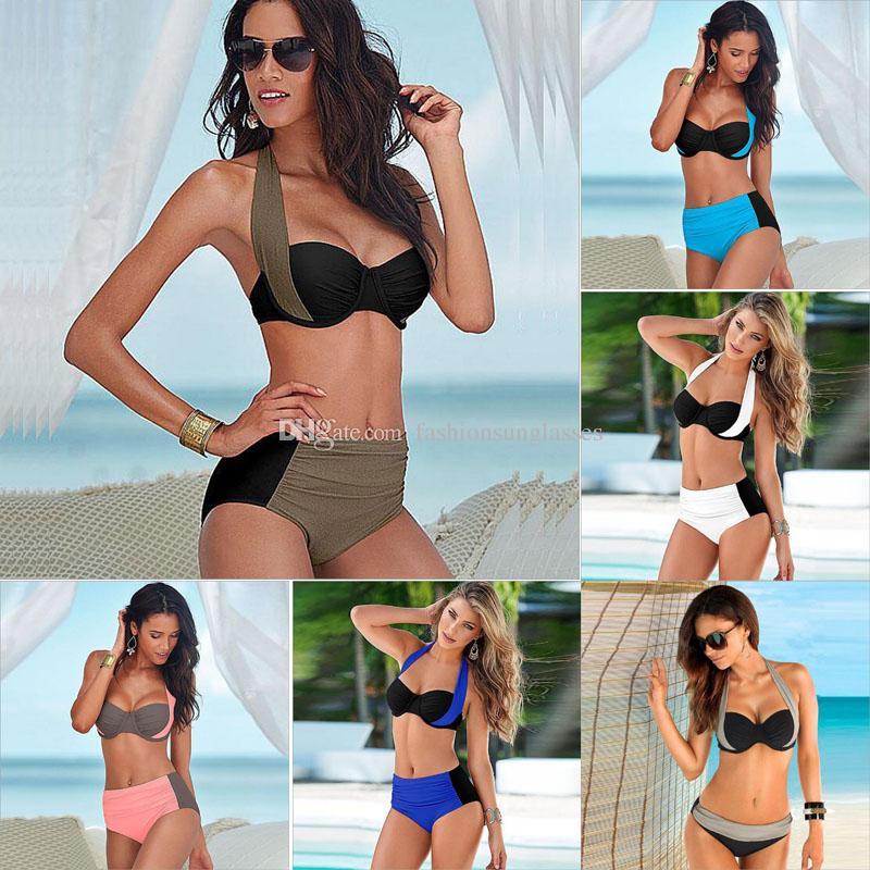 70184edcaaa45 2017 New Sexy Bikinis Women Swimsuit High Waisted Bathing Suits Swim ...