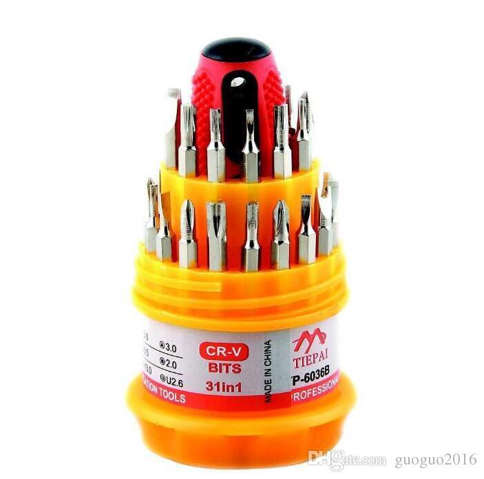 6036B 31 in Micro Pocket Präzisions-Schraubendreher-Kit Torx-Magnet-Schraubendreher Handy-Werkzeug Reparatur-Box-Kit G0597