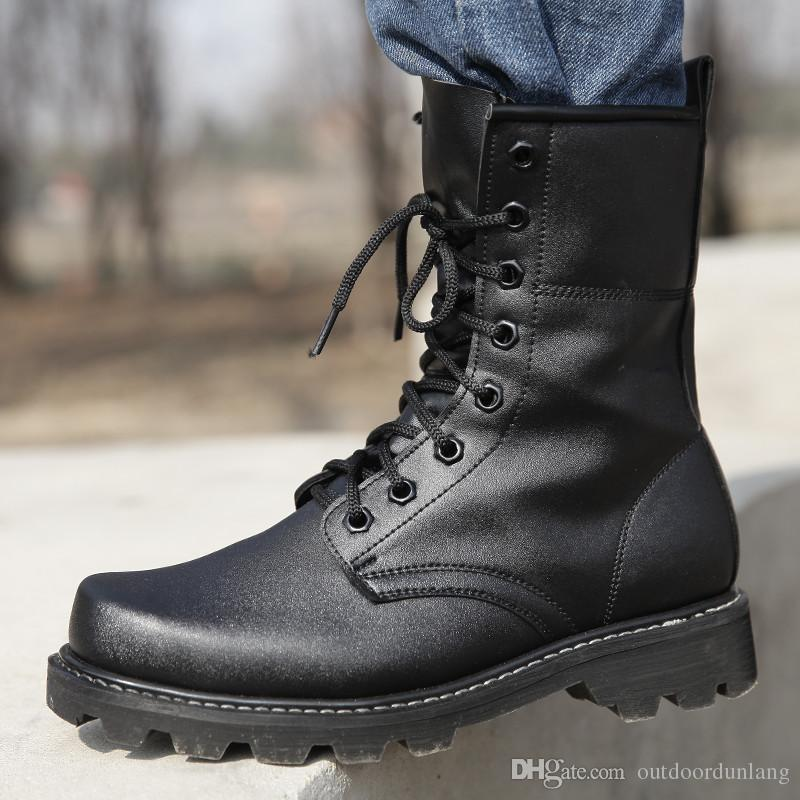 high fashion 2019 hot sale affordable price 2019 Special Forces Combat Boots Winter England Style Fashionable Black  Leather Tactical Boots Men'S Desert Outdoor Hiking Training Boots From ...