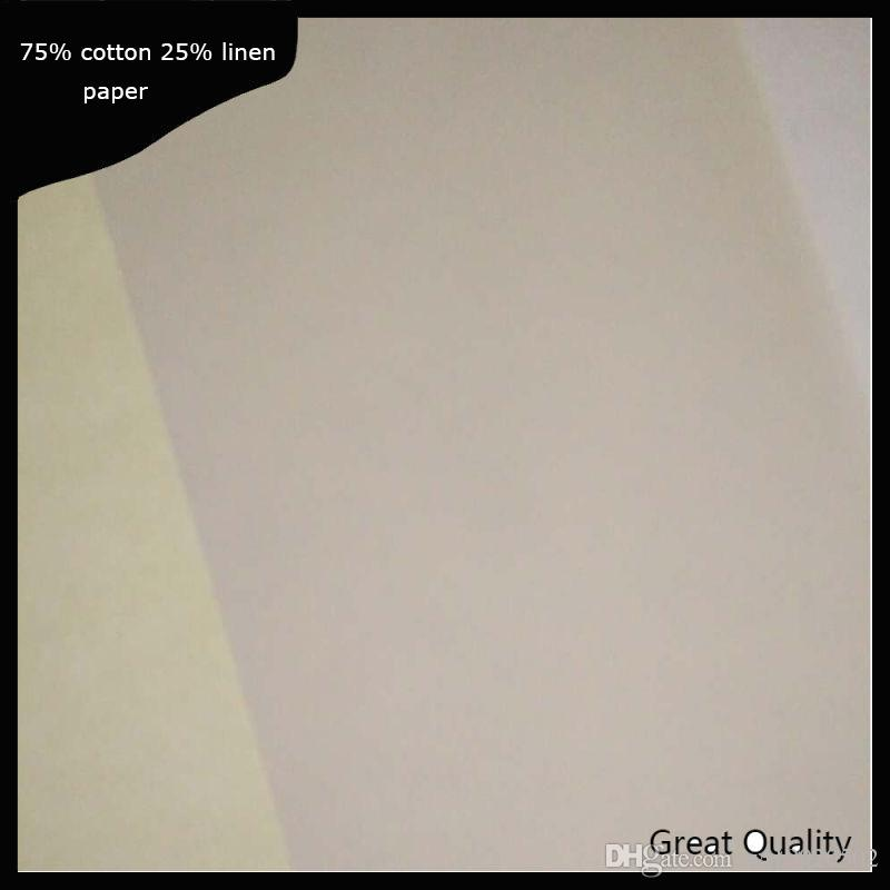 A4 size Plsy Brand resume paper cotton linen fiber 22lb white color 216*279mm 200 sheets per package (y17040911)