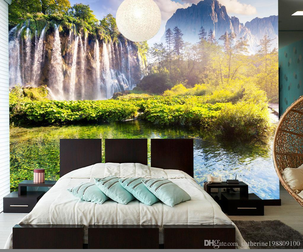 Good Wallpaper Mountain Bedroom - new-custom-3d-beautiful-dream-mountain-waterfall  Photograph_894079.jpg