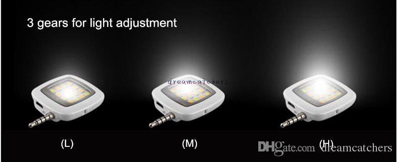 새로운 미니 16 Leds 램프 LED 플래시 Selfie 라이트 Dimmable 플래시 채우기 라이트 포켓 스포트 라이트 스마트 폰 카메라 유니버설에 대 한 휴대용