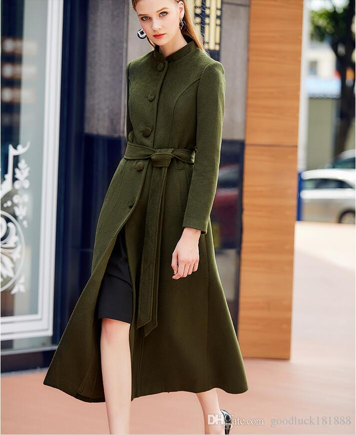 2017 Autumn Winter Style Women'S Fashion Long Woolen Coats ...