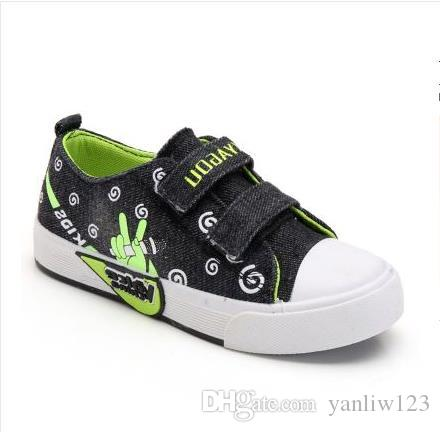 Canvas Children Shoes Sport Breathable Boys Sneakers Brand Kids Shoes for Girls Jeans Denim Casual Child Flat European shoe size: 27-36