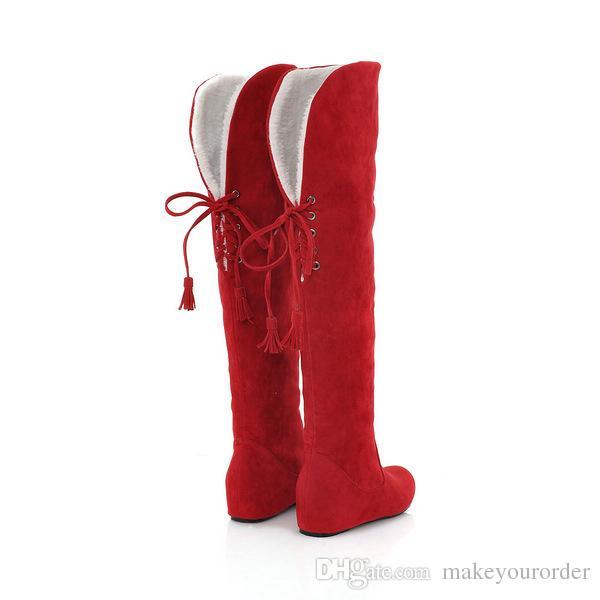 wholesaler factory price hot seller inner heel high heel Knee boot women sexy boot