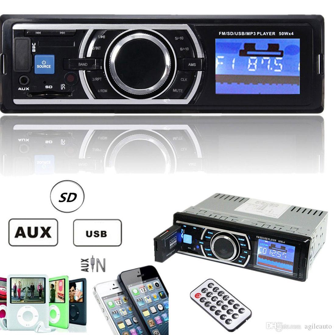 Auto Car Stereo Audio In Dash Aux Input Receiver Sd Usb Mp3 Fm Radio Player  Cau_008 Cheap Car Audio Deals Cheap Car Audio Equipment From Agileauto, ...