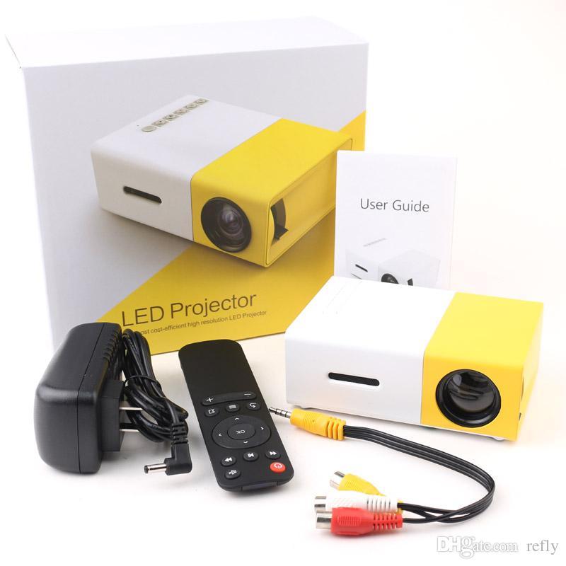 0826738f25177e YG300 LED Portable Projector Mini Handheld Projector 400-600LM 3.5mm Audio  320 x 240 Pixels Support HDMI USB Good Quality