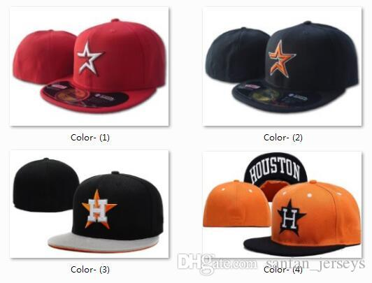 dda91b77048 Wholesale Houston Astros Fitted Hat Black Baseball Snapback Men S MLB  Baseball Cap Cool Base Flat Brim Hip Hop Size Caps With Box Design Your Own  Hat Make ...