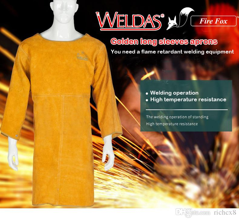 f20d044be629 2019 Cowhide Apron Welding Service Protective Clothing Work Wear From  Richcx8