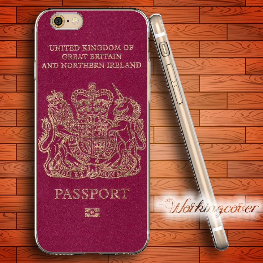 competitive price c0158 a5881 Coque UK Passport Soft Clear TPU Case for iPhone 6 6S 7 Plus 5S SE 5 5C 4S  4 Case Silicone Cover.