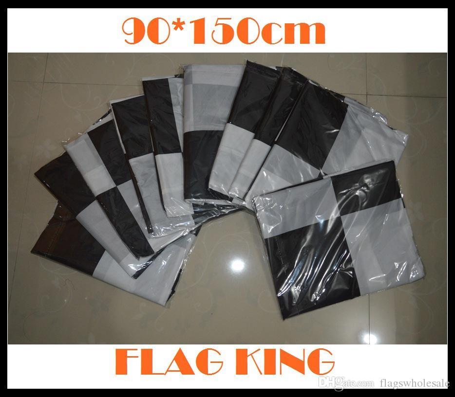 90 * 150cm 3 * 5ft 자동차 레이싱 플래그 흑백 격자 무늬 배너 Motorsport Racing Home Decor 레이싱 체크 무늬 깃발