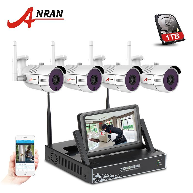 2018 Anran 4ch Wireless Cctv System Nvr Kit 7 Inch Lcd Screen P2p ...