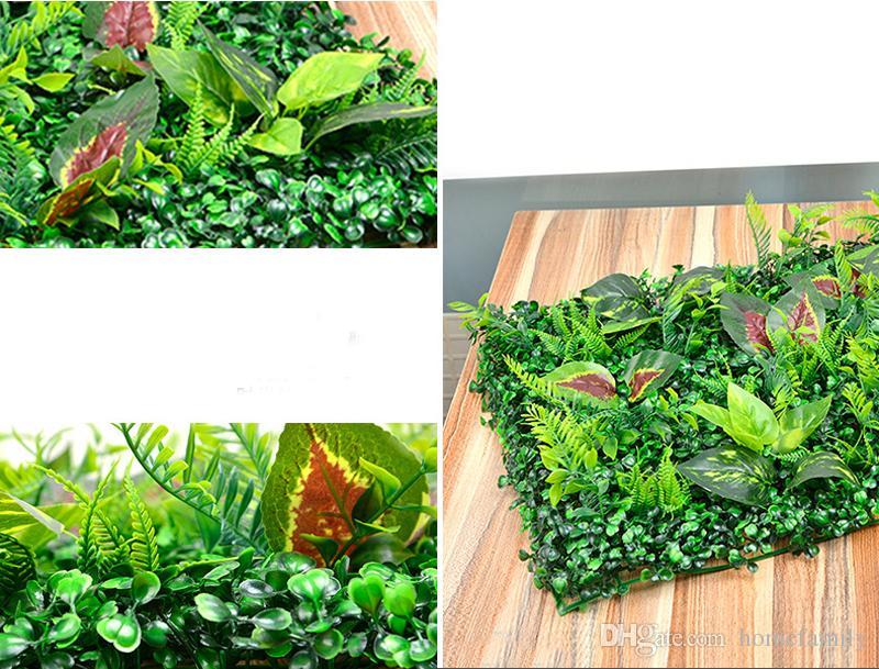 Grama de Plástico Artificial Gramado 40 * 60 cm Jardim de Fadas Em Miniatura Gnomo Musgo Terrário Decoração Resina Artesanato Bonsai Home Decor Milan Gramado Mista