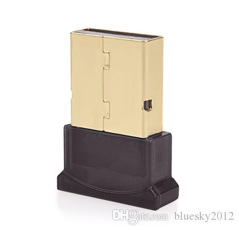 Haute qualité Bluetooth 4.0 USB 2.0 CSR4.0 Dongle Adaptateur pour PC Portable WIN XP VISTA7 / 8 Bien avec le paquet de détail