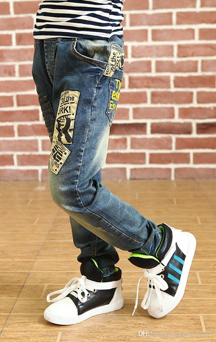 Jeans dei bambini di modo di alta qualità i ragazzi, jeans dei bambini coreani adatti sottili, jeans dei bambini dei bambini, i jeans del ragazzo dei bambini Trasporto libero