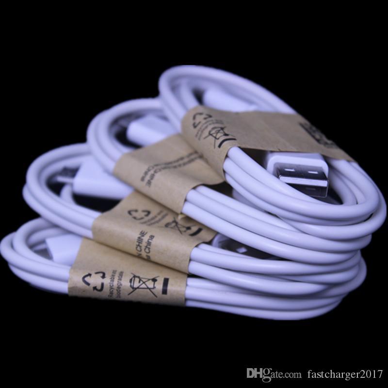 1m 3ft 흰색 검정색 유형 C 마이크로 USB 케이블 삼성 S8 S9 S10 S6 S7 노트 8 9 HTC LG
