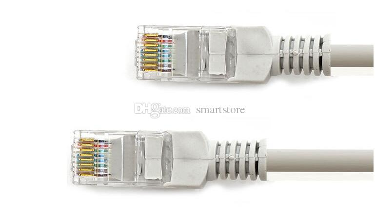 200pcs lot 5m cable network jumper finished with twisted pair cable crystal head connector broadband router Twisted Pair Connector Verizon