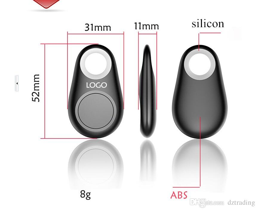 Mini GPS Tracker Bluetooth Key Finder Alarm 8g Two-Way Item Finder For Children,Pets, Elderly,Wallets,Cars, Phone Retail Package