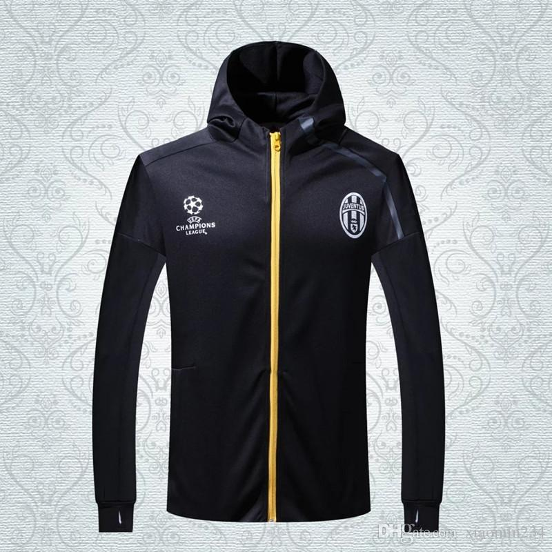 Juve Style Thai Quality Winter Coats Long Sleeve Athletic Football ...