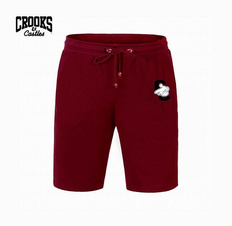 H00587 # Freies Verschiffen s-5xl New Crooks und Castles short Mens elastische Taille keucht bunte Briefart