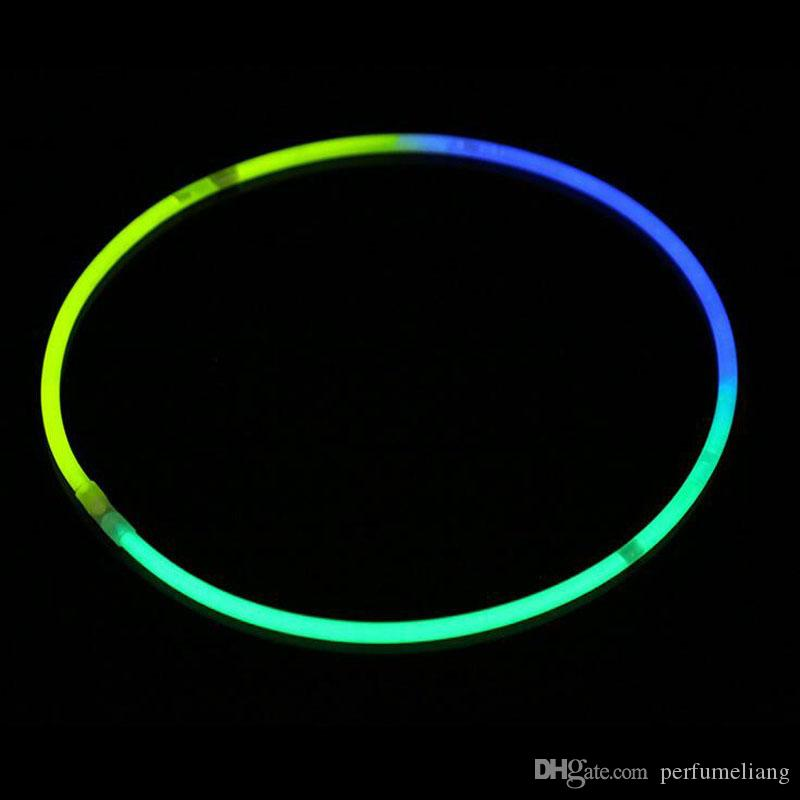 58cm Long Glow Sticks Necklaces Party Fluorescent Neon Colors Xmas Party Wedding Christmas Concert Decoration Free Shipping ZA3574