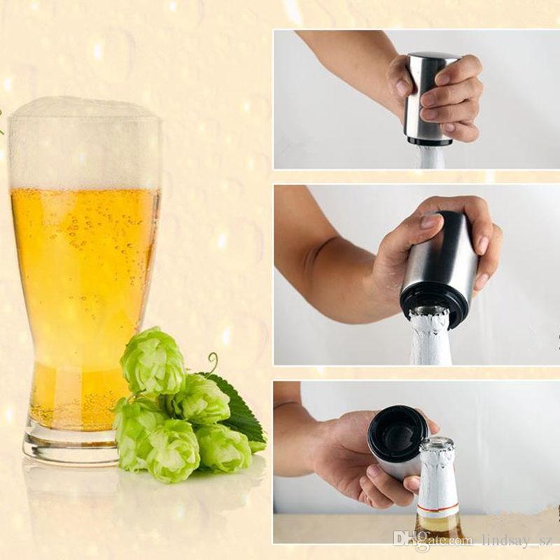 Abridor de Garrafa de cerveja De Aço Inoxidável Automático De Cerveja Suco Abridor de Garrafa de Vinho Abridor De Garrafas de Presente Ferramenta de Cozinha Ferramenta de Cozinha