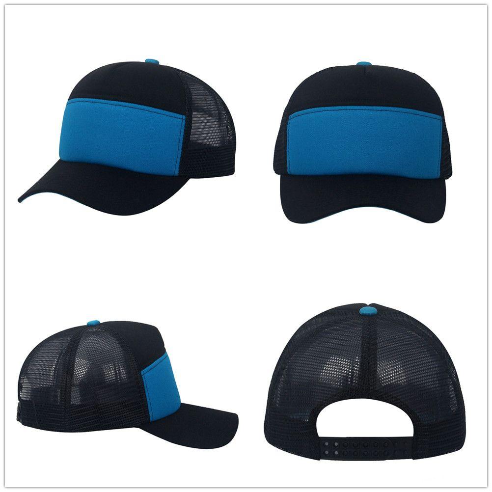 8467353c38f Active Travel Shade Hat Black Sapphire Blue Colors Baseball Cap Plain 6  Panels Trucker Hat Mesh Hat Unisex Man Woman Snapback Summer Hats Caps  Trucker Hat ...
