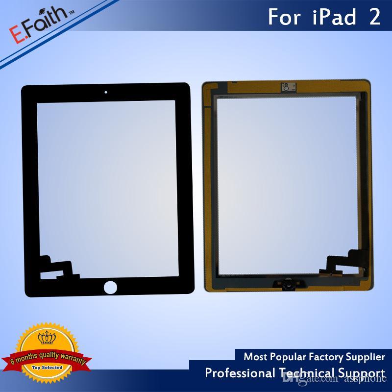 ホームボタン+粘着性のDHLの配送でiPad 2ブラックタッチスクリーンデジタイザの交換用