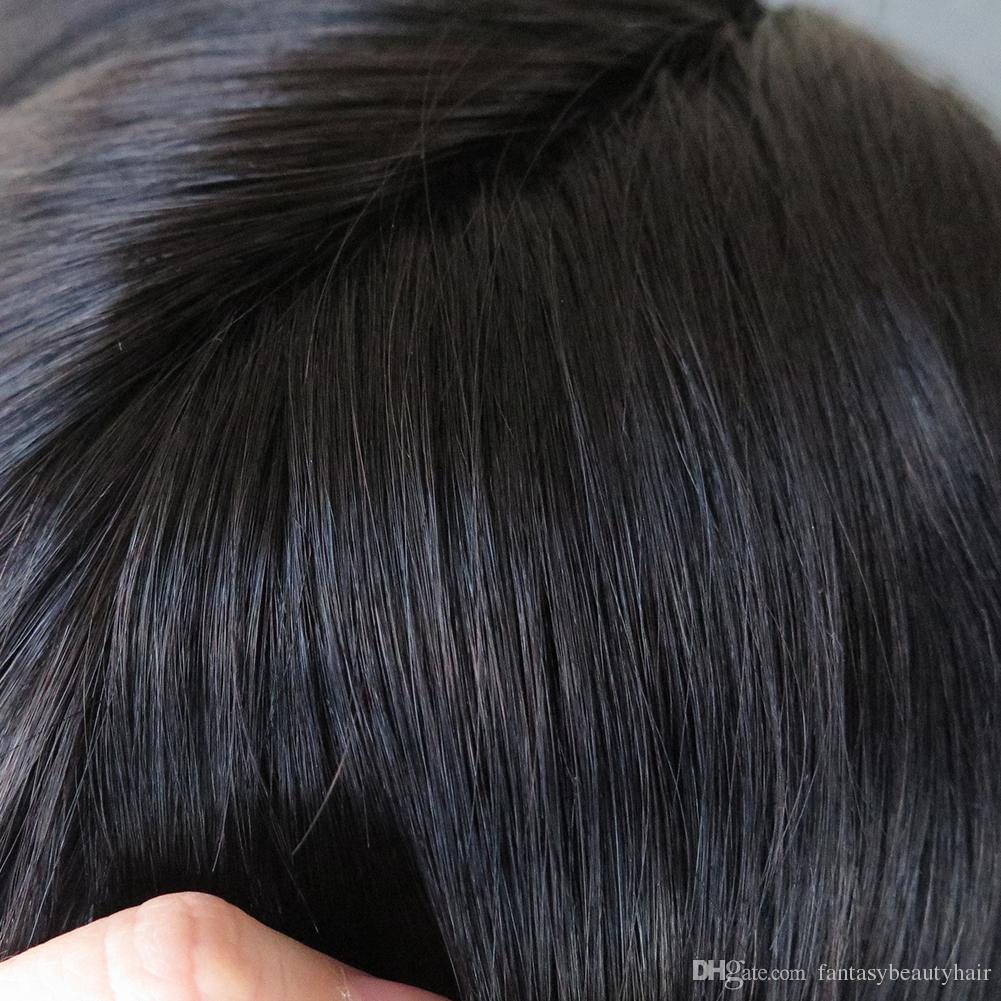 Best Selling Fine Mono With Skin Around Human hair Toupee European hair Rplacement Men Toupee