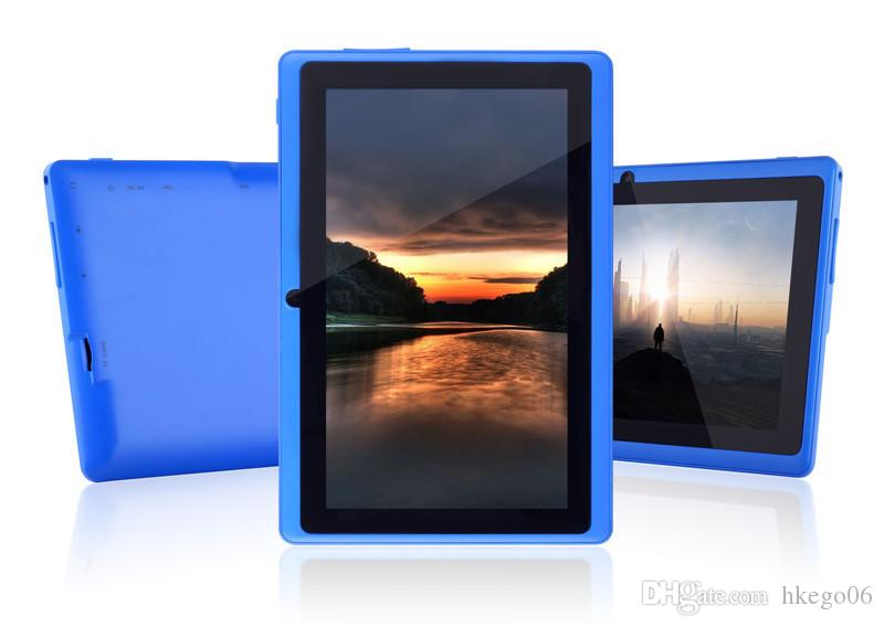 lowest price best quality Dual Camera Q88 A33 Quad Core Tablet PC Flashlight 7 Inch 512MB 8GB Android 4.4 Wifi Allwinner Colorful